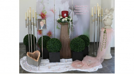 Urnendeko DeLuxe - Hintergrund Kirschblüte