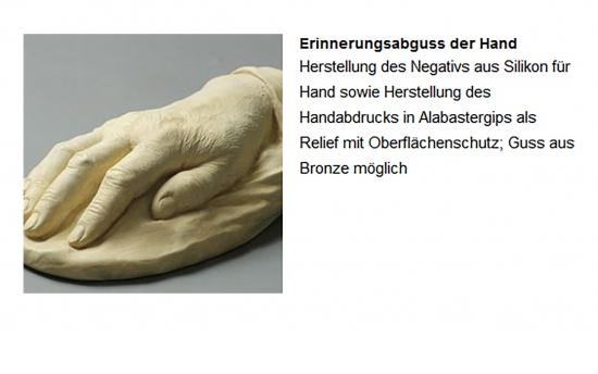 Erinnerungsabdruck der Hand