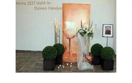 Urnendeko Standard - Banner Rose antik